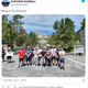 A tweet from the Plateau Avengers baseball club, based in Enumclaw, Washington, during their visit to Mount Rushmore.