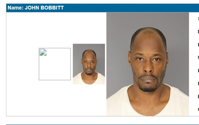 "Essex County (NJ) Jail booking photo of John Bobbitt, arrested in connection with the April 28 fatal shooting of Kashawn ""Kanye"" Smith in Mount Vernon"