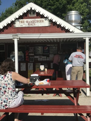 The Hamburger Haus in Dundee, Wis., may be small, but its generous ice cream cones more than make up for the size.