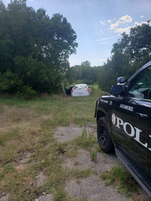 The Ardmore Police Department reportedly engaged in a pursuit with the driver of a stolen vehicle on Wednesday. The driver and a juvenile passenger in the vehicle reportedly took off on foot after hitting a fence and driving into a dead end.