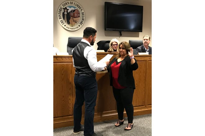 """Camden Mayor Tracy Torres was sworn into office Monday, March 2. She said one thing she plans to do as mayor is rework the town's budget """"from top to bottom."""""""