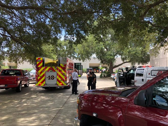 Titusville firefighters responded to an explosion Thursday morning that injured one person near a facility that produces hand sanitizer.