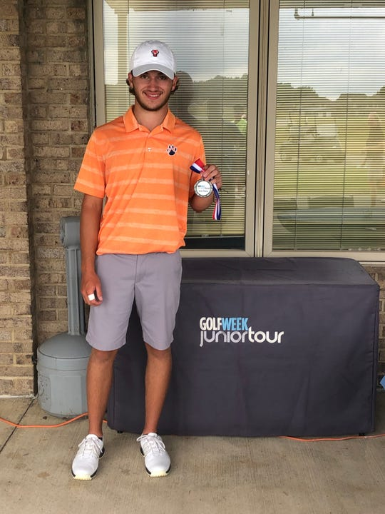 Galion's Spencer Keller shot a 76-69 to finish +1 at the Golfweek Junior Tour event at Stone Ridge Golf Course.