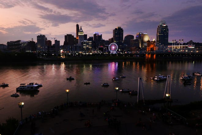 A view from the Covington Marriott at Rivercenter as the sun sets over the Ohio River on Sunday, September 1 as people on boats await the fireworks to begin. The Riverfest/Western and Southern WEBN Fireworks is a tradition that brings hundreds of thousands of people to the riverfront. I love that so many people come together to celebrate what feels like the last 'hurrah' of summer. This night was particularly gorgeous as the las bits of sunlight illuminated the boats on the river.
