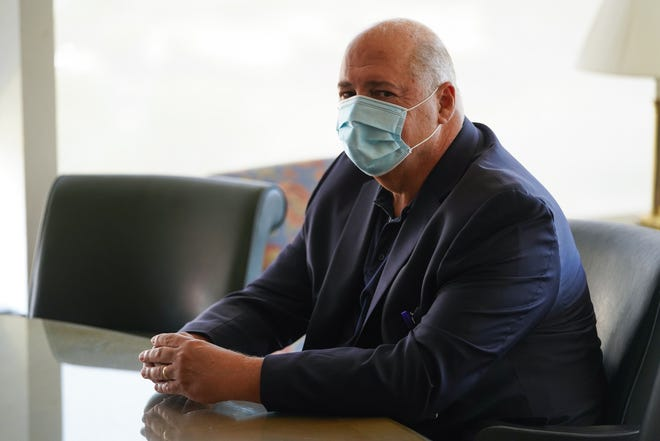 Bob Riney, Chief Operating Officer at Henry Ford Hospital in Detroit, at his office on June 29, 2020.