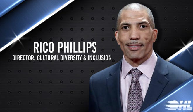 Flint's Rico Phillips was hired by the Ontario Hockey League to the newly created role of director of. cultural diversity and inclusion. (Ontario Hockey League)