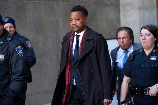 In this Jan. 22, 2020 file photo Cuba Gooding Jr. leaves court, in New York.