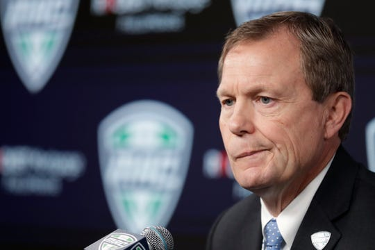 Mid-American Conference commissioner Jon Steinbrecher