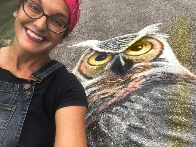 Professional chalk artist Stacey Williams-Ng will be drawing outside the Black Box Fund in the Third Ward during Wisconsin's Chalk the State on July 25 and 26.