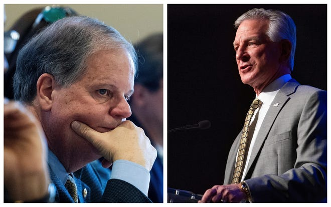 Incumbent Democratic U.S. Sen. Doug Jones will face off against Republican candidate Tommy Tuberville in the November election.