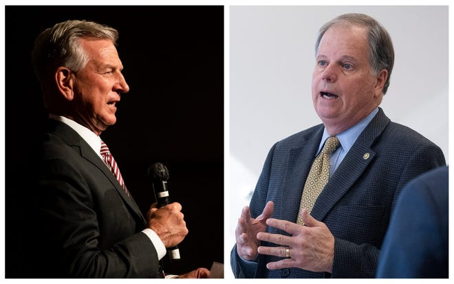 Republican candidate Tommy Tuberville will face off against incumbent Democratic U.S. Sen. Doug Jones in the November election.