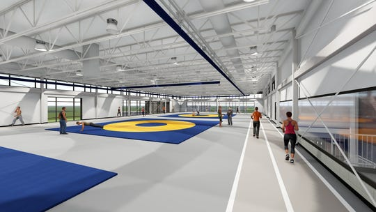 Delta High School has broken ground on a new fitness center to include a two-lane track with abundant natural light.