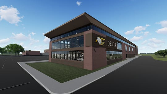 A new fitness center is being built onto Delta High School at a cost of nearly $6 million.
