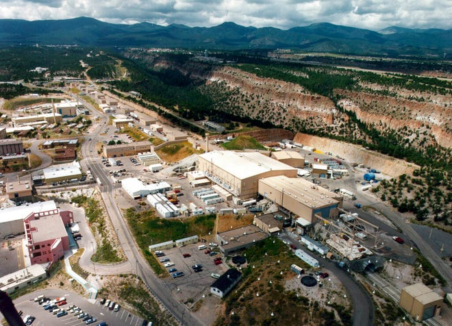 This undated file aerial view shows the Los Alamos National Laboratory in Los Alamos, N.M. Administrator Lisa Gordon-Hagerty, the head of the National Nuclear Security Administration visited New Mexico Thursday, July 16, 2020, as part of a nationwide tour of the federal government's nuclear security operations.