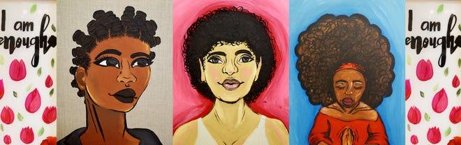 A collage of the work of Shreveport artist Kalandra Jones.