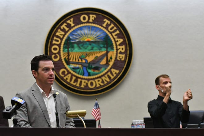 """Tulare County Chairman Pete Vander Poel announces a $7.5 million Business Assistance Program to help small businesses that have """"slipped through the cracks."""""""