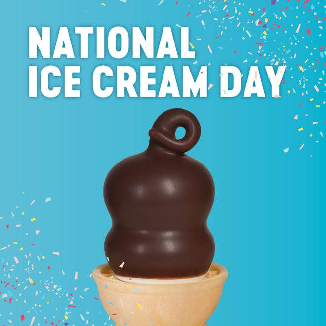 Texas Dairy Queens are offering $1 off most dipped cones when you use the mobile app this Sunday, July 19.