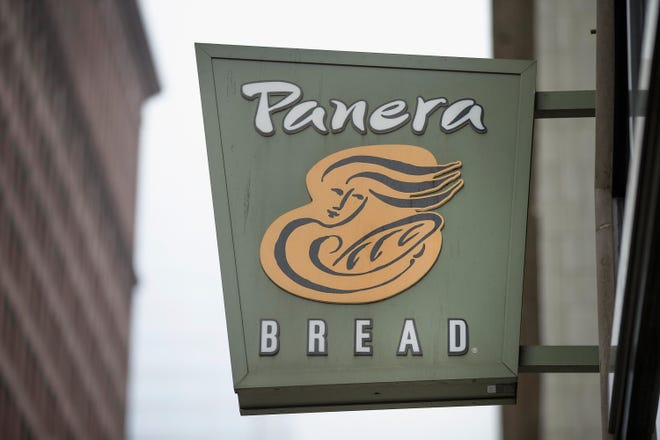 Panera Bread restaurants require masks at all times, except while seated and eating or drinking.