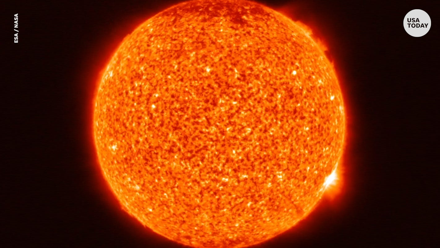 Fact check: Heavily edited viral image of sun's surface wasn't taken by NASA - USA TODAY