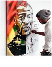 Former major leaguer Micah Johnson has become an artist in his post baseball career.