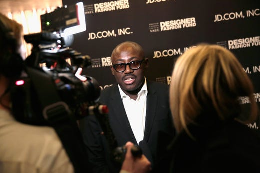 """British Vogue editor-in-chief Edward Enninful was <a href=""""https://www.usatoday.com/story/entertainment/celebrities/2020/07/16/british-vogue-eic-edward-enninful-racially-profiled-entering-work/5450138002/"""" target=""""_blank"""">racially profiled by a security guard </a>while trying to enter the Cond&eacute; Nast office, he shared in a social media post in July 2020. &quot;As I entered, I was instructed to use the loading bay,&quot; he wrote. &quot;Just because our timelines and weekends are returning to normal, we cannot let the world return to how it was. Change needs to happen. And it needs to happen now.&quot;&nbsp;"""