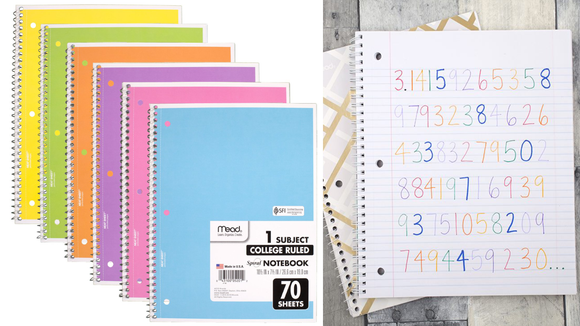 A notebook for every subject.