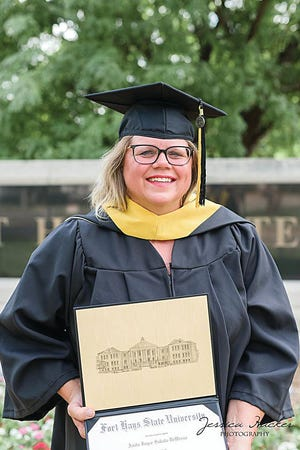 Pratt-Skyline agricultue teacher and FFA advisor has had a busy few months, teaching and learning all at the same time. She recently completed her masters degree (virtually) from Fort Hays State University, undaunted in reaching her education goals in the pandemic climate.