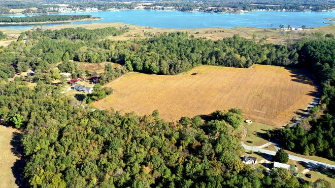 The new Piney Point property includes now-reforested cropland and extends out to the Indian River.