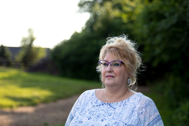 Wendy Lane of Independence, Kentucky, poses for a portrait at Memorial Park on Thursday, July 16 2020.