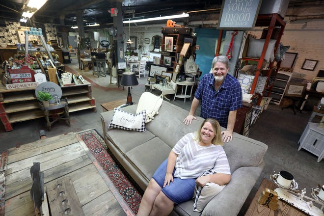 Jill and Kevin Sheridan purchased RUST Décor in Coshocton in April. The sprawling store sells a wide variety of home décor, and offers crafting classes.
