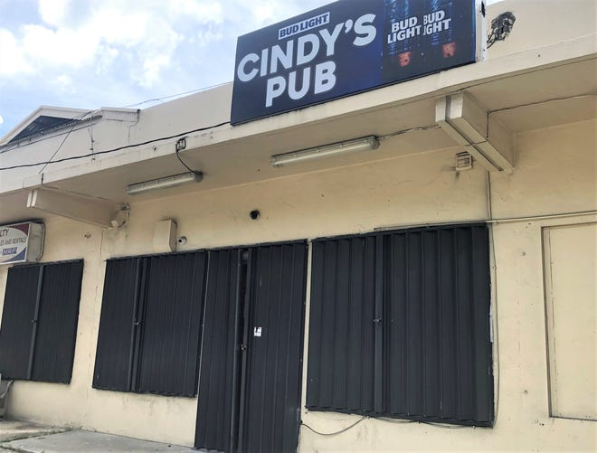 Cindy's Pub, located in East Hagåtña, was one of two bars that were shut down by the Department of Public Health and Social Services on July 16. The bar, along with A Class Lounge in Upper Tumon were closed because the establishments lacked proper manager certification,