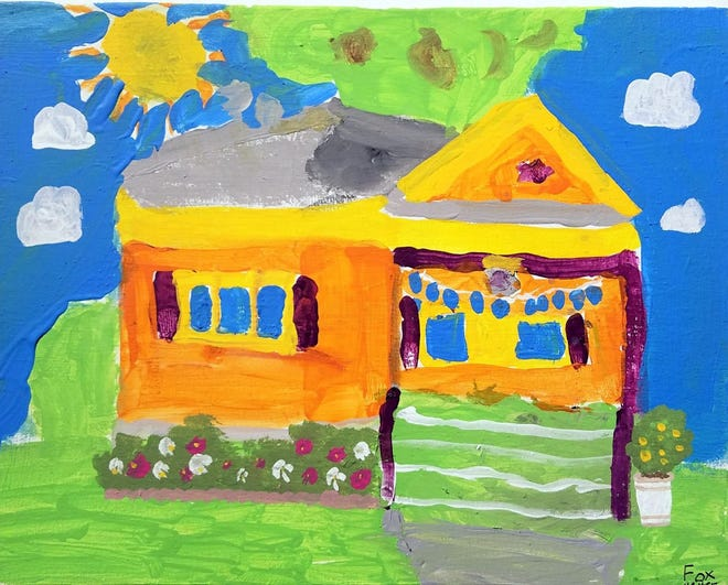 This is one of last year's entries to the Youth Plein Air Contest in Cedarburg.