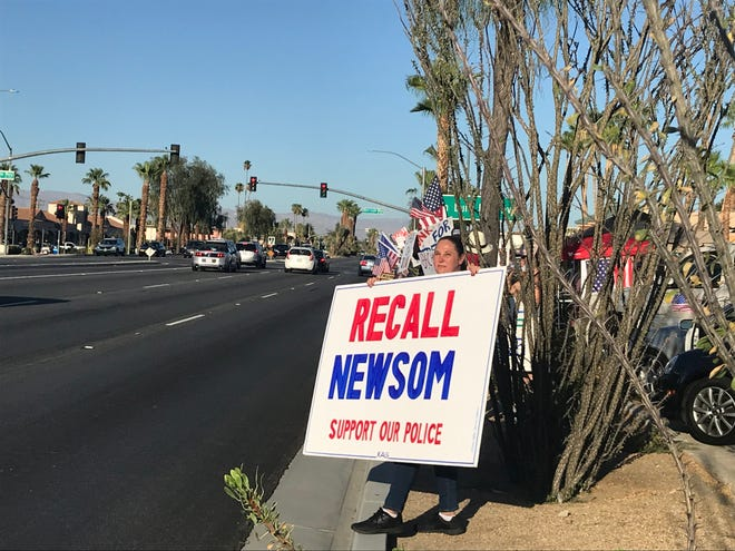 Volunteers collected signatures in support of recalling Gov. Gavin Newsom.