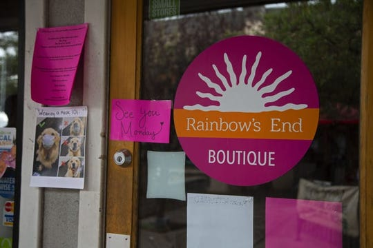 Rainbow's End Boutique se reabrirá el lunes después de un cierre durante la pandemia COVID-19.