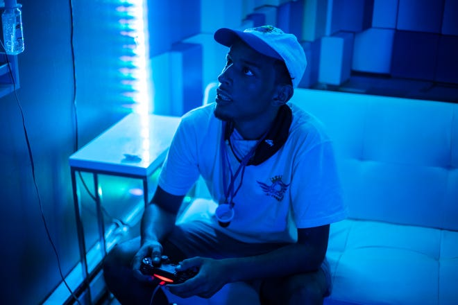 """Reese Green of Poughkeepsie, an esports player. He has gained a following for his exploits in """"Call of Duty."""""""