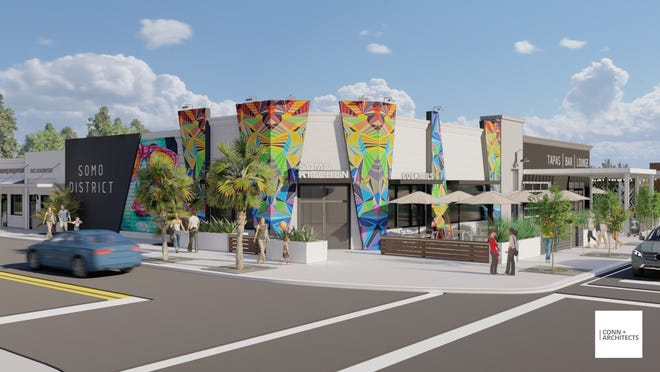 SoMo Walls, a $5 million redevelopment project off of South Monroe Street  between Oakland Avenue and Harrison Street.