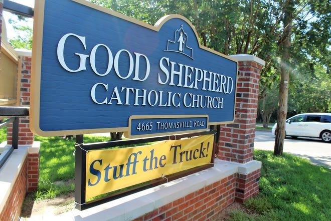 Bring donations to Stuff the Truck Good Shepherd Catholic Church on July 24-26.