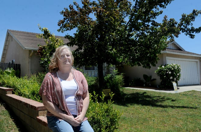 Stephanie Swain of Ventura received a three-day notice from her landlord after only paying part of her rent payment, in spite of a local moratorium on evictions. Swain was furloughed from her job in March due to the coronavirus.