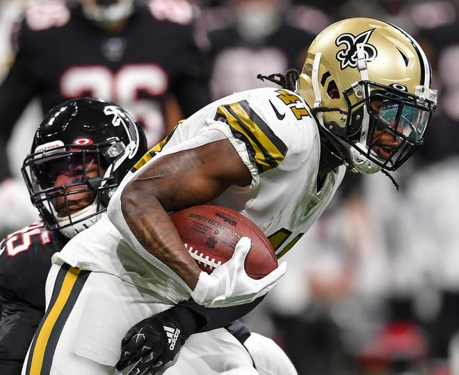 Running back Alvin Kamara will lead the Saints against Tampa Bay in the 2020 season opener at the Mercedes-Benz Superdome Sunday afternoon.