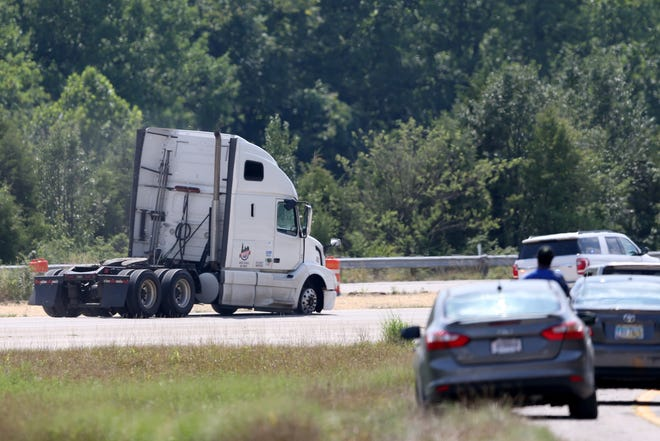 Authorities pursued and then later apprehended the driver of a semi tractor-trailer after a pursuit that lasted about three hours, Saturday, July 18, 2020, along Interstate 275 in Anderson Township. The driver was arrested just before 4 p.m. and required treatment from medics at the scene on Interstate 275.