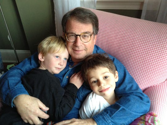 Stanley Soffin with his grandsons, Major and George. Soffin, the former director of the Michigan State University School of Journalism and a Michigan Journalism Hall of Fame member, died on July 8, 2020. He was 78.
