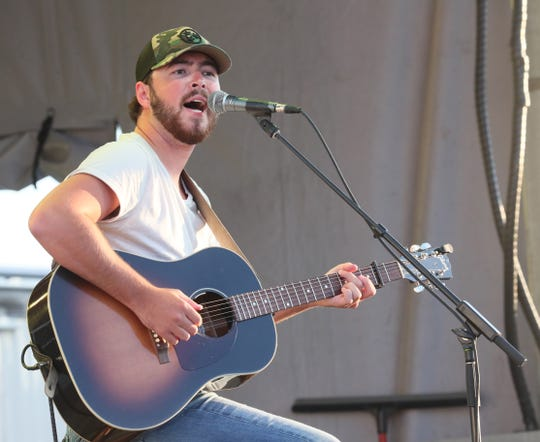 Conner Sweet opens for Lee Brice at Kapco Metal Stamping's 'Live at the Lot' drive-in concert series in a company parking lot in Grafton on Friday, July 17, 2020.