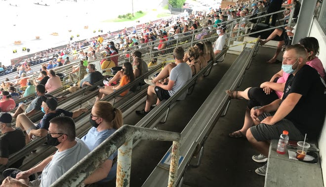 A larger crowd showed up for Saturday's races at the Nashville Fairgrounds Speedway than for the first race on July 4.