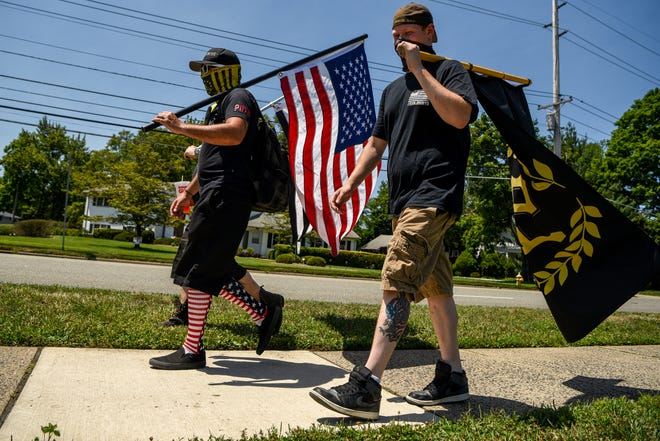 Members of the national organization Proud Boys are expected to be in downtown Fayetteville on Saturday for an anti-human trafficking and pedophile march.