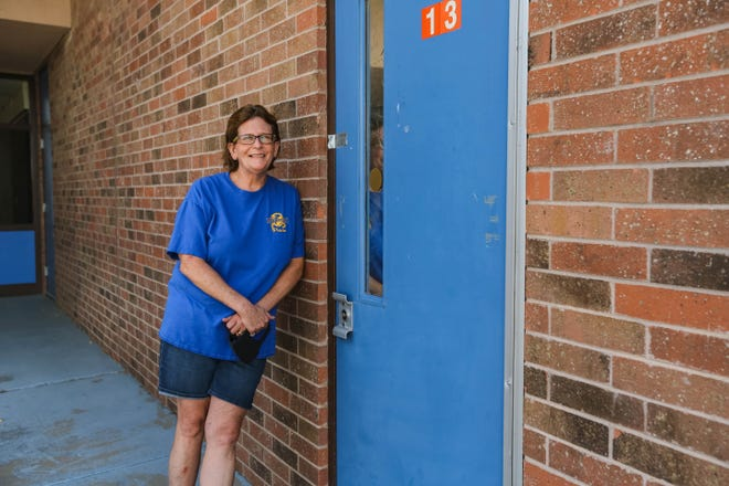 Picacho Middle School teacher, Kellie Dinsmore, is pictured at Picacho Middle School in Las Cruces on Saturday, July 18, 2020.