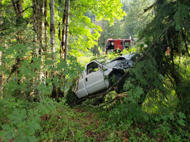 The driver of a pickup identified as Robert Smith of Salem died after his truck crashed Saturday on Highway 22.