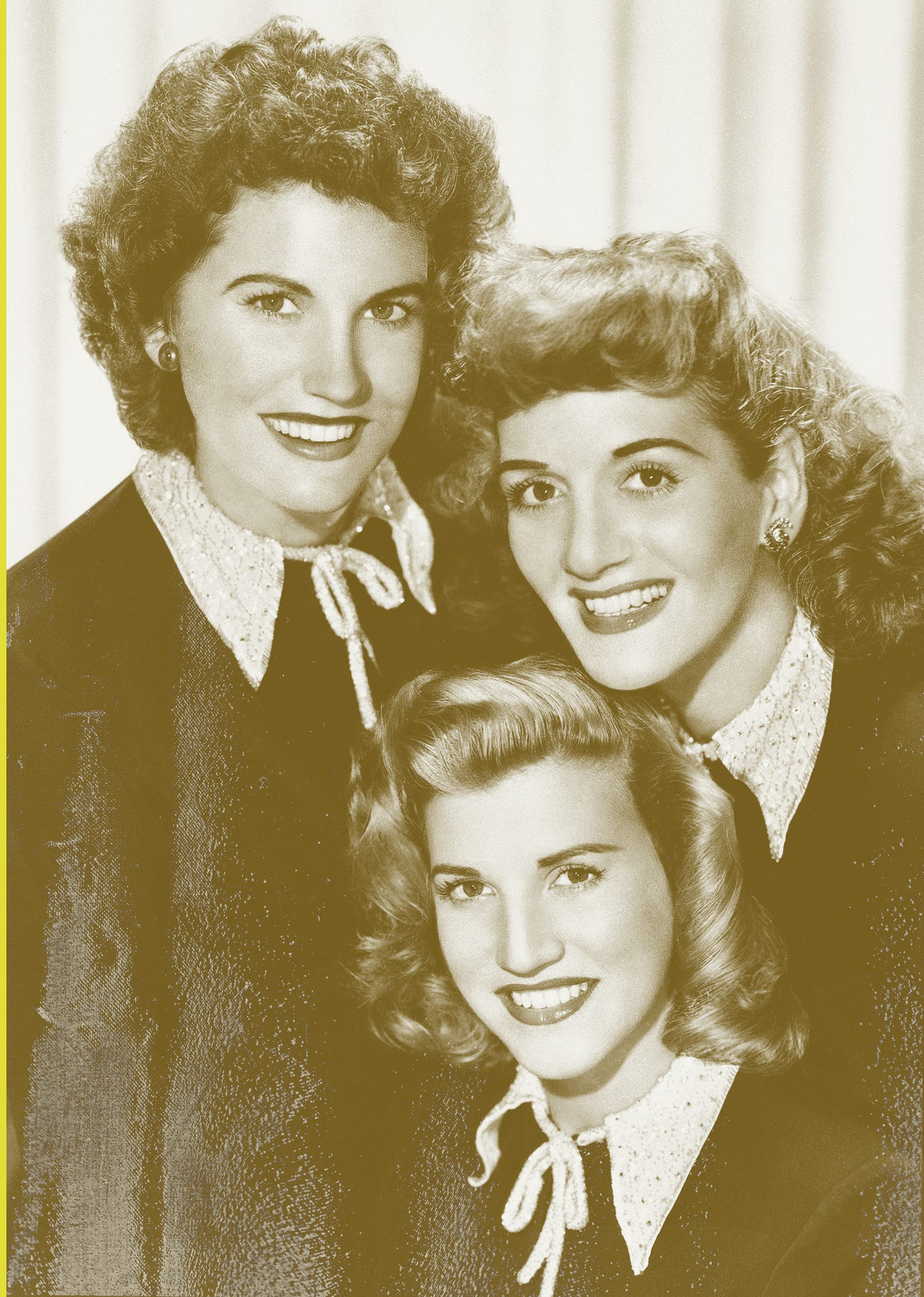 The Andrews Sisters: Maxene, Patty and LaVerne.
