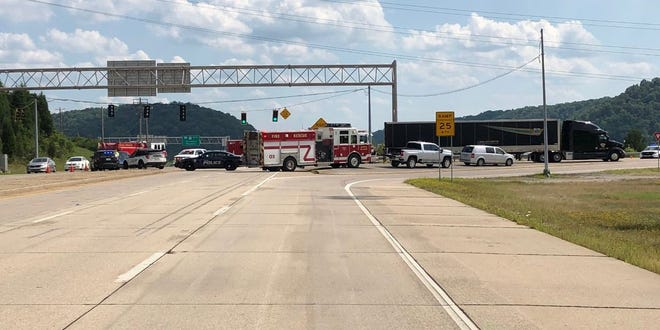 Two people are dead after a motorcycle crashed into a semi's trailer on AA Highway Sunday, the Wilder Police Chief says.