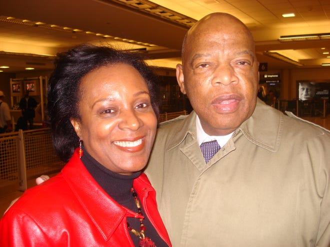 Stephanie Jones with U.S. Rep. John Lewis.