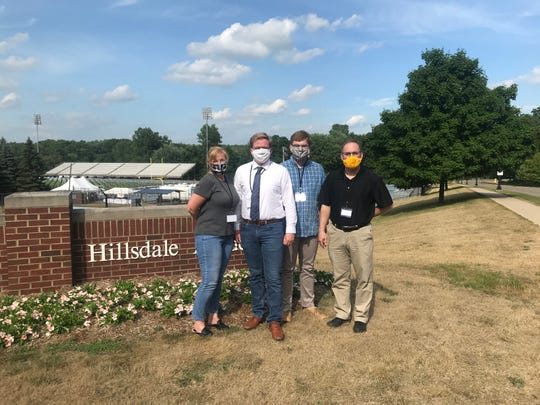 The Betz family a few hours before Hillsdale's commencement ceremony.